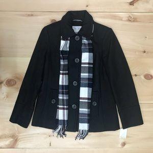 Nautica Women's wool blend pea coat charcoal/Black